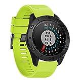 SHOBDW Weiche Silikonband Ersatz Uhrenarmband für Garmin Approach S60 Smartwatch (22mm, Grün)