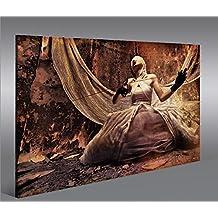Quadro moderno Frau Mit Schere 1p Stampa su tela - Quadro x poltrone salotto cucina mobili ufficio casa - fotografica formato XXL