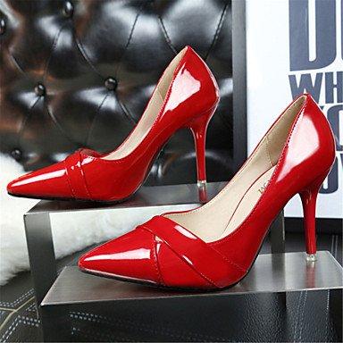 Moda donna sexy sandali Autunno 2016 designer di moda scarpe scarpe con i tacchi alti argento con belle scarpe a punta. Burgundy