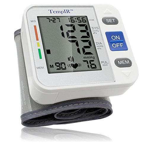 Wrist Blood Pressure Monitor Adjustable Cuff. Fully Automatic. Pulse Diastolic Systolic and Hypertension...