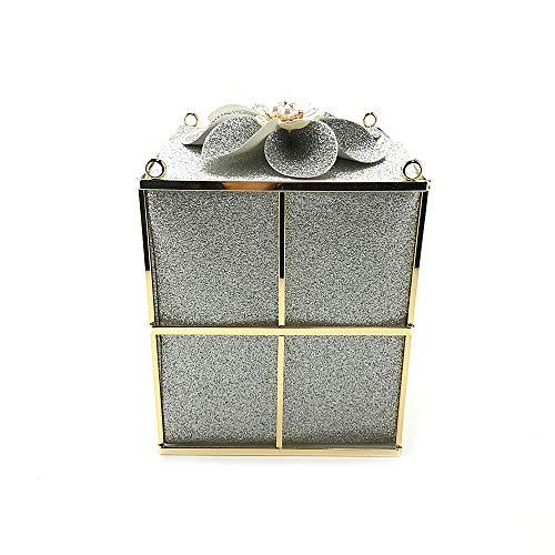 FZHLY Kreative Geschenkbox Blume Abendtasche Brautkleid Nachtclub Mode diagonal Schulter Paket...