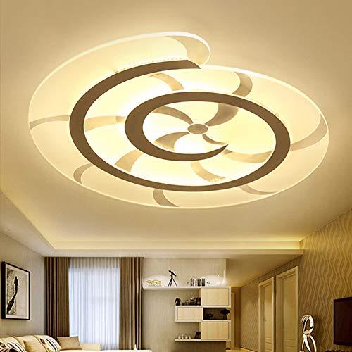 BAIVIN Conch LED Deckenleuchte Dimmable Ultradünne Acryl Seite Beleuchtung Dekorative Lampenschirm Schlafzimmer Studie Wohnzimmer Lampen,warm,60cm