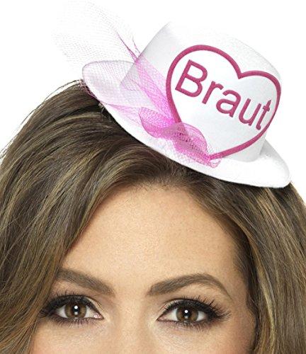 Lustige Ideen Frauen Gruppe Kostüm Für (Hütchen mit der Aufschrift BRAUT oder TEAM BRAUT mit Brautschleier und Haarclips für den Junggesellenabschied)