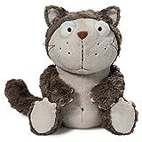 Nici 39028 Katze Plüsch Schlenker, grau/beige