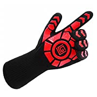 JasmineLi Extreme Heat Resistant Specialized Gloves - Anti-Slip Silicone BBQ Oven Gloves - Baking/Grilling/Cooking (ONE PCS)