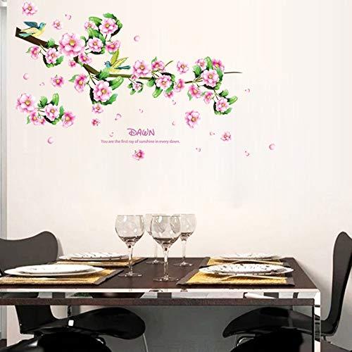 Blume Vogel Selbstklebende Abnehmbare Wohnzimmer Schlafzimmer Möbel Fenster Vinyl Wandaufkleber Art-deco-wandbild - Art-deco-möbel