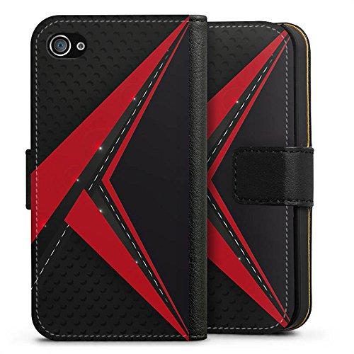 Apple iPhone X Silikon Hülle Case Schutzhülle Carbon Edel Mann Sideflip Tasche schwarz