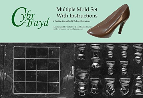 Cybrtrayd BUN-M033M035 2-Piece Chess Pieces and Board Chocolate Molds by CybrTrayd