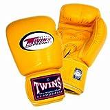 Twins Special BGVL-3 - Guantes de Muay Thai, color amarillo, tamaño 280 g