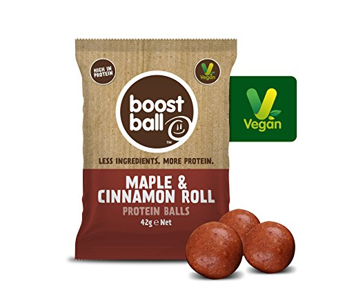 Boostball Maple & Cinnamon Roll Protein Boost Ball (Packung mit 12 x 42 g) (Protein Cinnamon Roll)