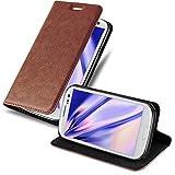 Cadorabo Hülle für Samsung Galaxy S3 / S3 NEO - Hülle in Cappuccino BRAUN - Handyhülle mit Magnetverschluss, Standfunktion und Kartenfach - Case Cover Schutzhülle Etui Tasche Book Klapp Style