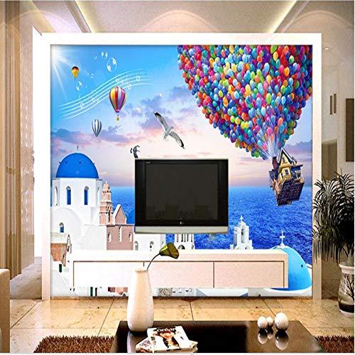 Zybnb Moderne Kreative 3D Tapeten Für Wände Benutzerdefinierte Foto Mural Tapeten Wohnzimmer Wohnkultur Kinderzimmer Blau Meer Landschaft Mural-120X100Cm