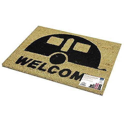 """JVL Fußmatte mit Schriftzug """"Welcome"""", Kokosfaser, 36 x 50cm"""