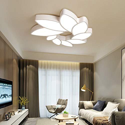 BLZ LED Ombre Blumen Deckenleuchte Weiß Warm Yellow Light Eisen Acryl Kronleuchter Esszimmer Wohnzimmer Studie Schlafzimmer Einfache Moderne hell (Farbe : Weißes Licht) -