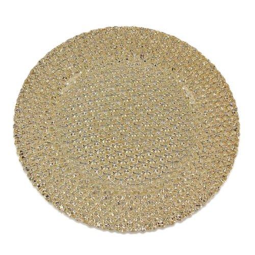 Kaheku Assiette de Bogart, Verre, doré, Ø33 cm