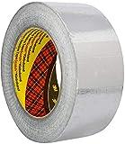 3M 1436 Rotolo di Nastro Adesivo in Alluminio, Resistente a Fiamme e Alte Temperature, 50 mm x 50 m, Argento