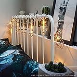 Metall Laternen Lichterkette - batteriebetrieben - Timer-Funktion - 10 LEDs warmweiß, von Festive Lights (Rosé-Gold) - 3