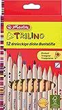 Herlitz 10412062Multi 12pièce (S) Bleistift Farbe–Buntstifte (12Stück (S), Multi, Holz, Dreieck)