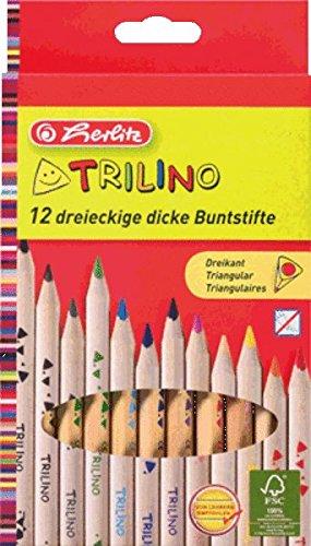 Herlitz 10412062Multi 12pièce (S) Bleistift Farbe–Buntstifte (12Stück (S), Multi, Holz,...