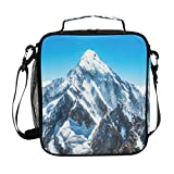 JSTEL Lunch Bag Mountain Peak Everest Handbag Lunchbox Food Container Gourmet Bento Coole