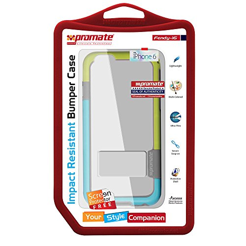 Promate Coat iPhone 6Coque en cuir à clipser Premium super fin de protection 11,9cm iPhone 6/6s (Gold) Green