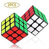 LOVEXIU Cubo Magico 3x3x3, 2 Pezzi Cubo 3x3 di Veloce e Liscio Durevole per Gioco di Addestramento Cerebrale o Regalo di Festa Adulti e Ragazzi