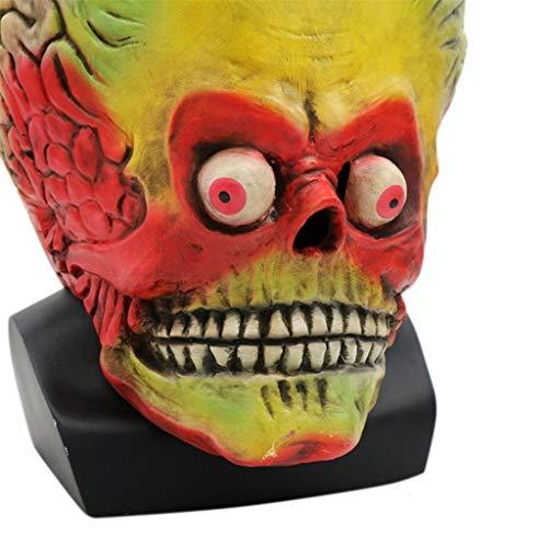 f Maske, Maskerade Teufel Alien Schädel Dämon Horror Zombie Geist Creepy Halloween Kostüm ()