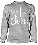 Stylotex Herren Longsleeve Basic Winter is Coming , Größe:S;Farbe:heather