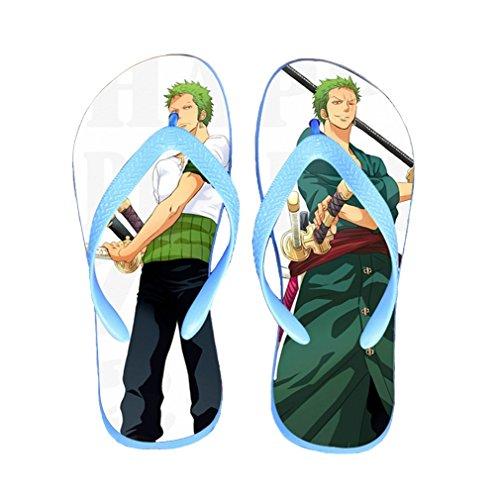 Bromeo One Piece Anime Unisex Flip Flops Zehentrenner Flip Pantoffeln 356