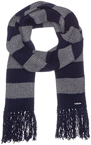 GUESS, NESTO SCARF - M63Z22Z1CG0 - Sciarpa da uomo, colore s789 blue on grey stripes, taglia Taglia unica