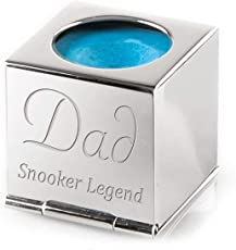 Engrave it Online Snooker- / Poolbillard-Kreidehalter, Silber