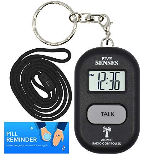 Atomic Talking Watch-5Senses Talking Anhänger und Schlüsselanhänger austauschbar 1281b - Es Usa Den Hergestellt In Sehen,