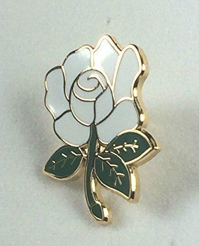 Yorkshire County weiße Rose, englische Rose, Emaille-Aufschlag, Stecknadel-Abzeichen