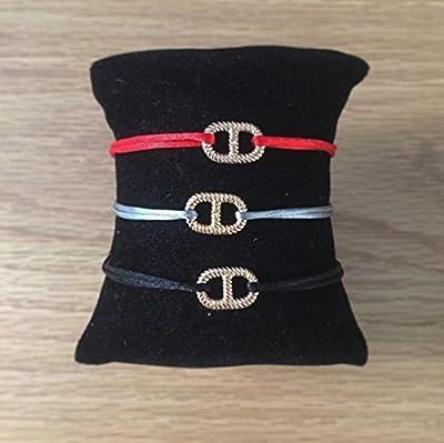 Bracelet maille marine vrillée en plaqué Or sur Cordon