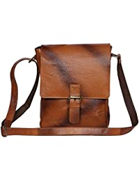 Woodons Premium Unisex Leather Sling Bag (Tan)