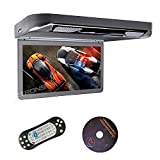 "Xtrons® Grey 13.3"" HD 1080P Video Car MPV Roof Flip Down Slim Overhead"