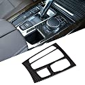 FSXTLLL Carbon ABS Interieurleisten Mittelschaltpaneel Abdeckrahmen Zierleiste, für BMW X5 X6 F15 F16 2015 2017, Autozubehör