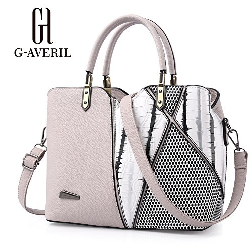 G-AVERIL, Borsa a mano donna Viola Purple Beige