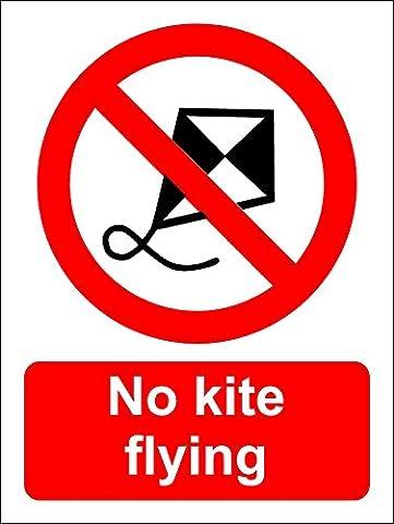 No kite flying sign - Self adhesive vinyl 200mm x 150mm