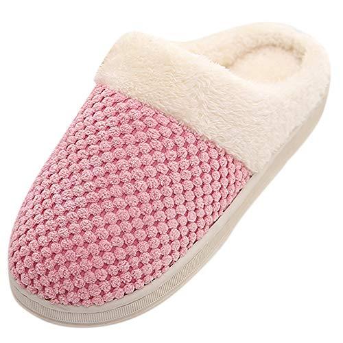 Hausschuhe Warme Bequem Pantoffeln Damen Herren Winter Plüsch Slippers DOLDOA