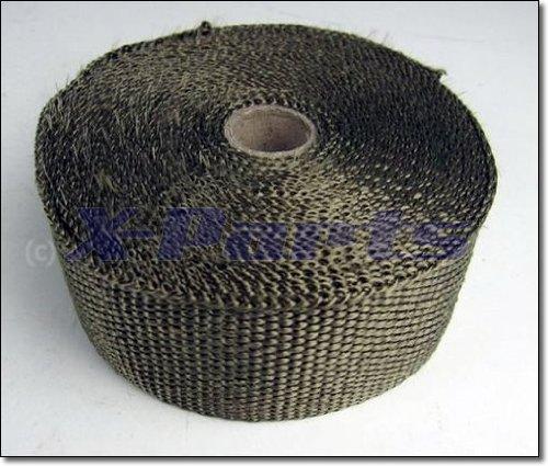 Preisvergleich Produktbild 10 M long,  5 CM Wide Titanium Hitzeschutzband Fächerkrümmer Exhaust Strap Lava Lawa 2, 90: (Price per Metre)