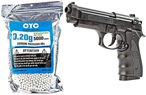 Nerd Clear Softair Pistole Schwarz 22cm lang | inkl. 5000 Stück 0,20g Biologisch abbaubare Kugel