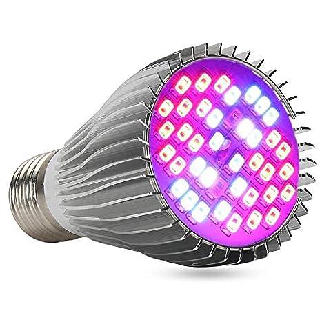 xjled spectre complet 9W LED Grow Light Ampoule, base E27, 405730SMD Rouge, 22, 12, bleu, 2IR, 2UV, 2Lumière Blanc, AC 85~ 265V, pour l'intérieur Plantes Serre de jardin système hydroponique éclairage