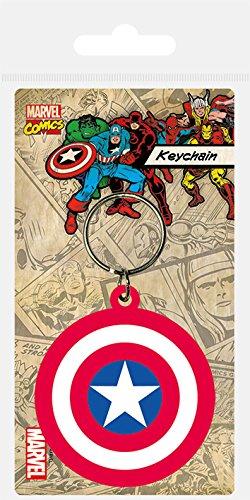 Pyramid International Marvel Captain America Shield Gummi Schlüsselanhänger, Mehrfarbig, 4,5x 6cm