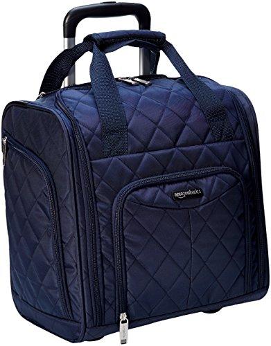 AmazonBasics - Koffer zur Aufbewahrung unter dem Sitz, Marineblau Gesteppt