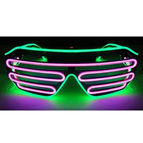 jianfeng LED Light Up Gläser beleuchtet LED Neon Brillen für Parteien, Kostüm, Ball, Disco Clubs, Haloween, Geburtstage, (Nähe Party In Der Supplies)