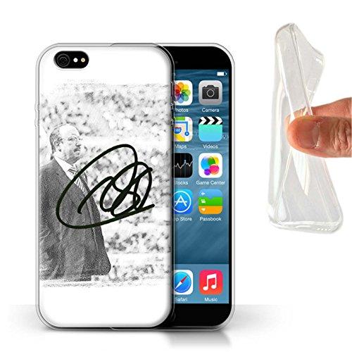 Offiziell Newcastle United FC Hülle / Gel TPU Case für Apple iPhone 6S / Pack 8pcs Muster / NUFC Rafa Benítez Kollektion Autogramm