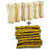 #1: Bonestix Dog bone (3-inch x 6 Pcs) + 300 gms Chicken Sticks