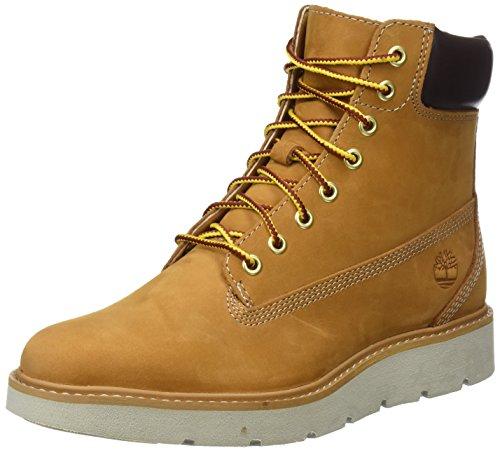 Timberland Damen Kenniston 6 Inch Lace Up Stiefel, Gelb (Wheat Nubuck), 42 EU (Timberland Stiefel Arbeit)