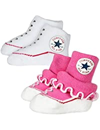 Converse Baby 2-er Socken Geschenk Set Rüschen Frilly Chuck Infant Booties in vielen Farben